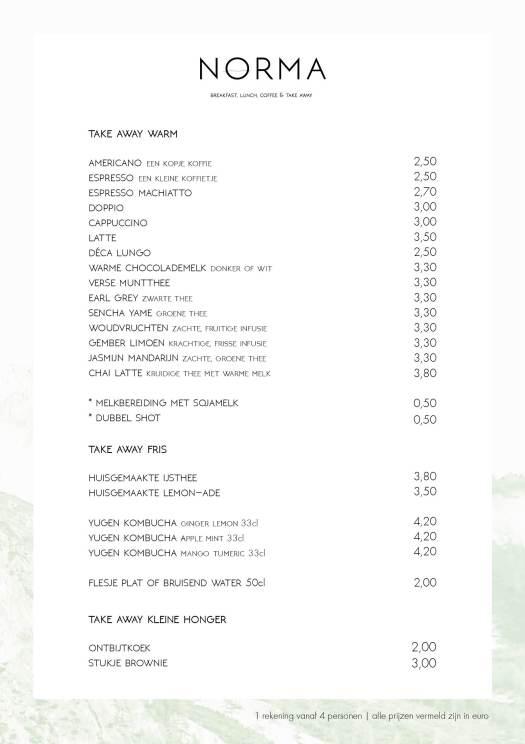 take away menu winter 17