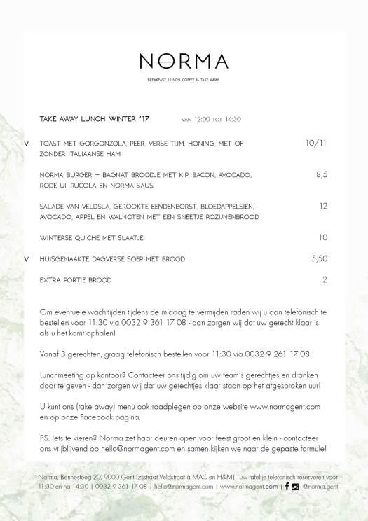 take away menu winter 172